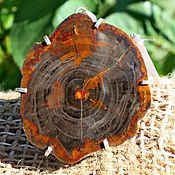 Украшения ручной работы. Ярмарка Мастеров - ручная работа Кулон из окаменелого дерева. Handmade.