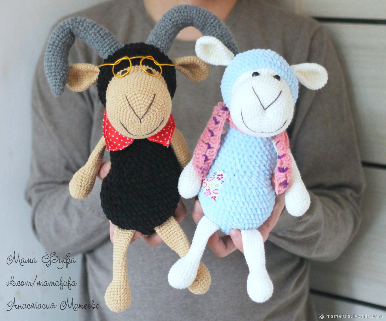 Master class in crochet Big Sheep and Sheep, Educational materials, Khimki,  Фото №1