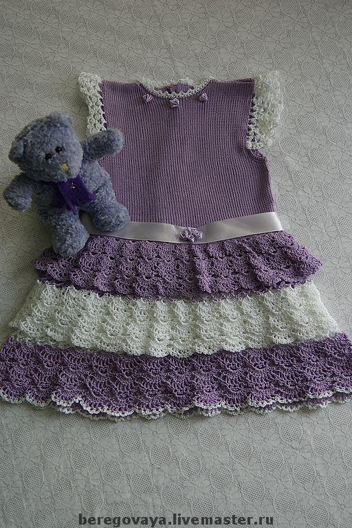 Одежда для девочек, ручной работы. Ярмарка Мастеров - ручная работа. Купить Платье для девочки Сиреневые мечты. Handmade. Платье