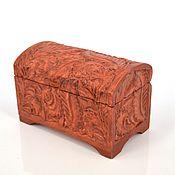 Для дома и интерьера ручной работы. Ярмарка Мастеров - ручная работа Резьба по дереву. Шкатулка-сундучок. Handmade.