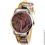 Украшения ручной работы. Ярмарка Мастеров - ручная работа Дизайнерские наручные часы по мотивам Роя Лихтенштейна. Handmade.