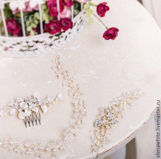 Свадебные украшения ручной работы. Ярмарка Мастеров - ручная работа. Купить Украшения для прически невесты. Handmade. Украшения ручной работы