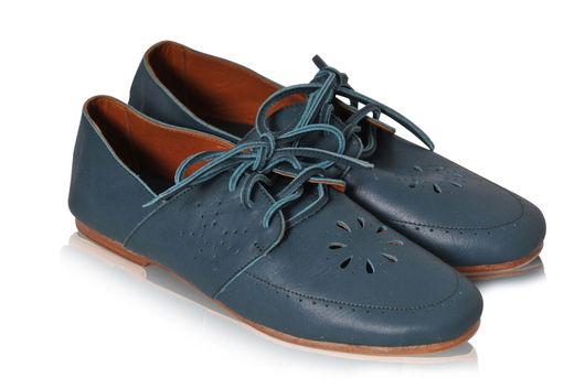 Обувь ручной работы. Ярмарка Мастеров - ручная работа. Купить Sun Blossom. Невесомые туфельки.. Handmade. Морская волна