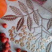 """Для дома и интерьера ручной работы. Ярмарка Мастеров - ручная работа """"Рябина"""" программа машинной вышивки. Handmade."""