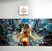 Картины и панно ручной работы. Ярмарка Мастеров - ручная работа Девушка-зеркало. Handmade.