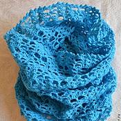 Аксессуары handmade. Livemaster - original item Turquoise Snood, tube, cowl. Handmade.