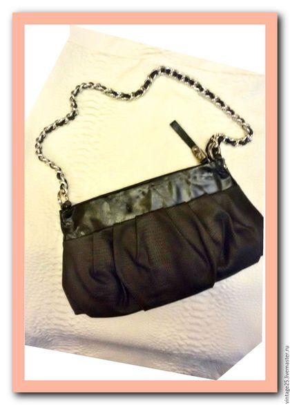 Винтажные сумки и кошельки. Ярмарка Мастеров - ручная работа. Купить Винтаж сумочка на цепи. Handmade. Черный, женская сумка