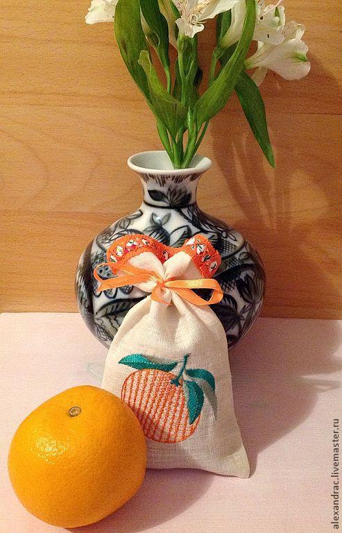 """Релаксация, ароматерапия ручной работы. Ярмарка Мастеров - ручная работа. Купить Саше """" Апельсинка"""". Handmade. Бежевый, ароматный подарок"""