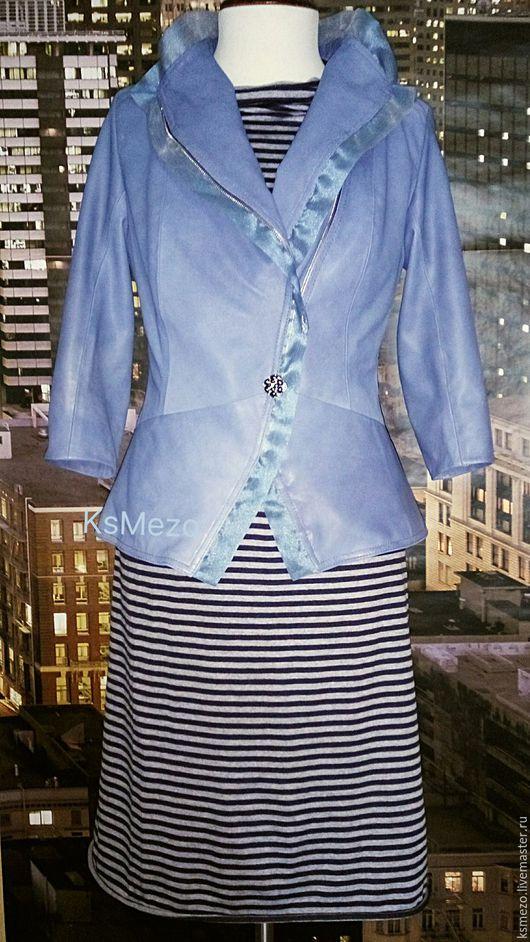 """Верхняя одежда ручной работы. Ярмарка Мастеров - ручная работа. Купить Куртка жакет """"Норвегия"""" из натуральной кожи на подкладке. Handmade."""