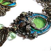 Pendants handmade. Livemaster - original item Stained glass pendant in vintage style