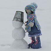 Куклы и игрушки ручной работы. Ярмарка Мастеров - ручная работа Девочка Нюта. Handmade.