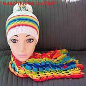 """Аксессуары ручной работы. Ярмарка Мастеров - ручная работа Шапка+шарф """"Яркая осень"""". Handmade."""