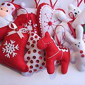 Подарки к праздникам ручной работы. Ярмарка Мастеров - ручная работа Красно-белый набор. Handmade.