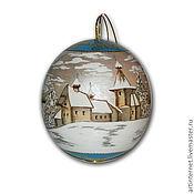 Подарки к праздникам ручной работы. Ярмарка Мастеров - ручная работа Елочный шар деревянный. Handmade.