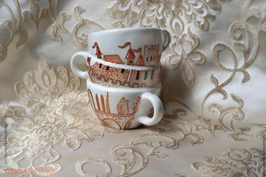 Кружка 3 в 1, необычная кружка, сувенирная кружкка, сувенирная посуда, посуда необычной формы, кружка необычной формы, посуда с росписью, расписная посуда, декоративная посуда, кружка с росписью, чай