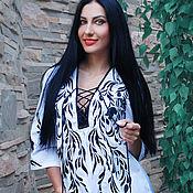 """Одежда handmade. Livemaster - original item Роскошная белая вышитая блуза """"Хиппи-шик"""" нарядная блуза с вышивкой. Handmade."""