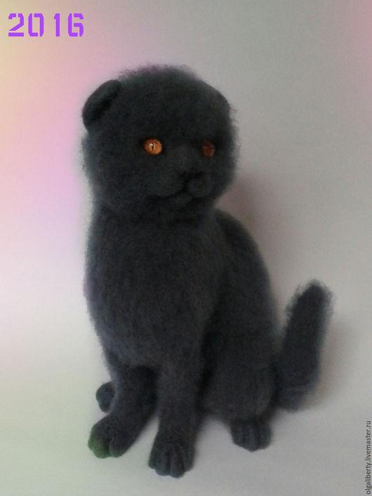 Игрушки животные, ручной работы. Ярмарка Мастеров - ручная работа. Купить Кошка Британская  вислоухая. Handmade. Серый, Британский кот