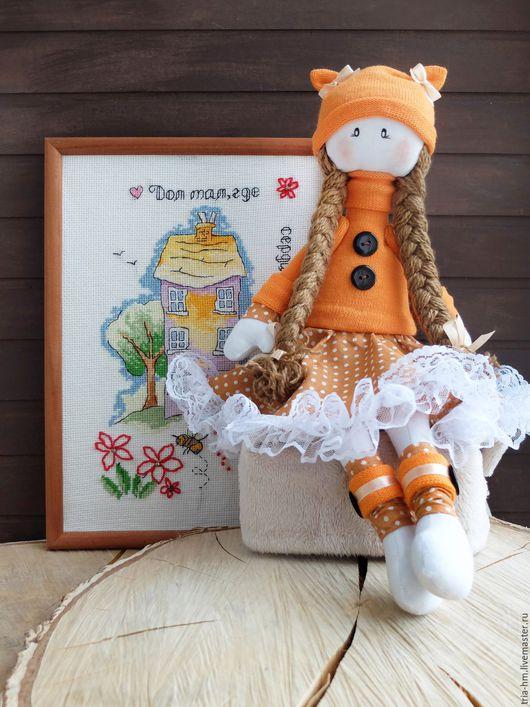 Куклы тыквоголовки ручной работы. Ярмарка Мастеров - ручная работа. Купить Кукла Апельсинка. Handmade. Рыжий, кукла в подарок