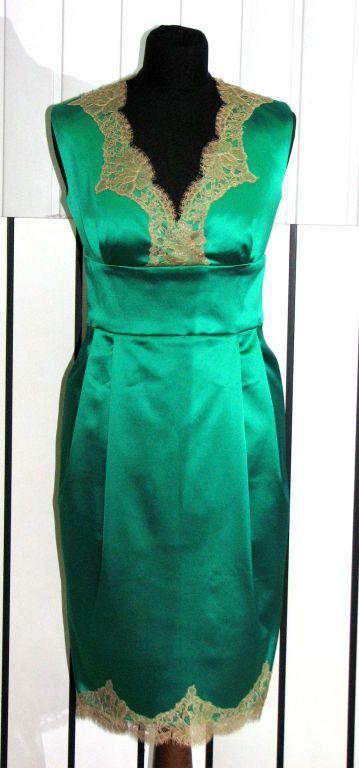 62db4358d8a Платья ручной работы. Ярмарка Мастеров - ручная работа. Купить Атласное  платье с кружевом.