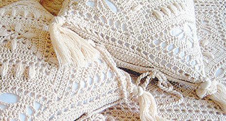 """Текстиль, ковры ручной работы. Ярмарка Мастеров - ручная работа. Купить """"Пастораль"""" наволочки. Handmade. Вязание, наволочки"""