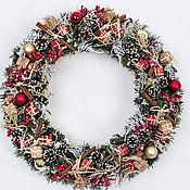 Подарки к праздникам ручной работы. Ярмарка Мастеров - ручная работа Рождественский венок Лондон. Handmade.