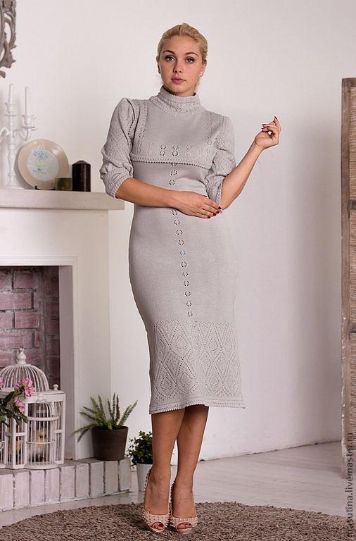 """Платья ручной работы. Ярмарка Мастеров - ручная работа. Купить Платье """"Lux"""". Handmade. Серый, полушерсть Италия"""