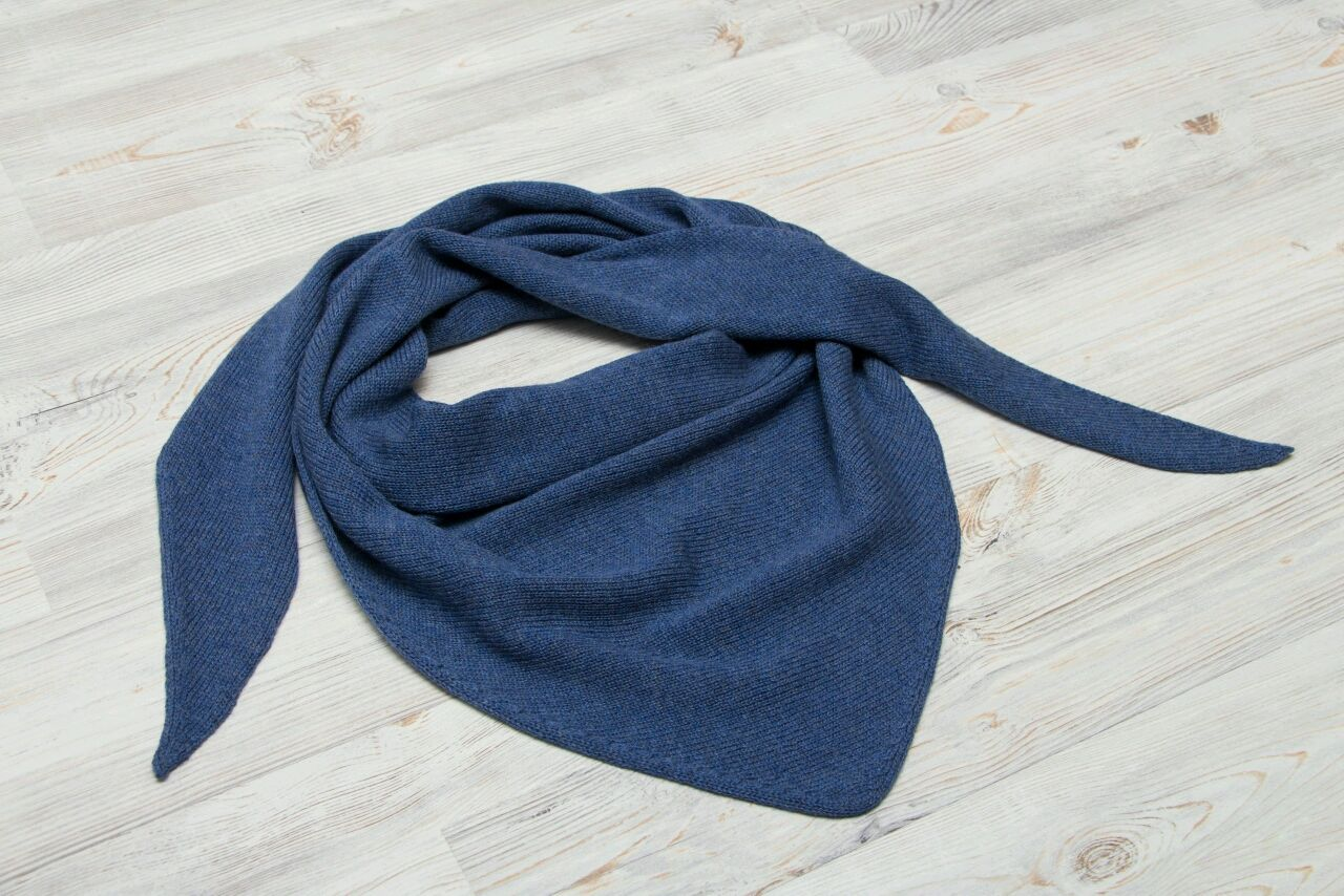Scarf 'jeans' from 100% Merino, Scarves, St. Petersburg,  Фото №1