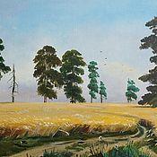 "Картины и панно handmade. Livemaster - original item Картина маслом ""Рожь"" по мотивам И. Шишкина. Handmade."