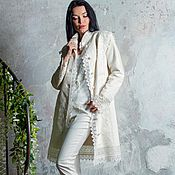 Одежда handmade. Livemaster - original item Coat white!Coat designer!. Handmade.