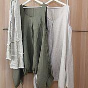 Одежда handmade. Livemaster - original item 204 Linen sundress-boho. Handmade.