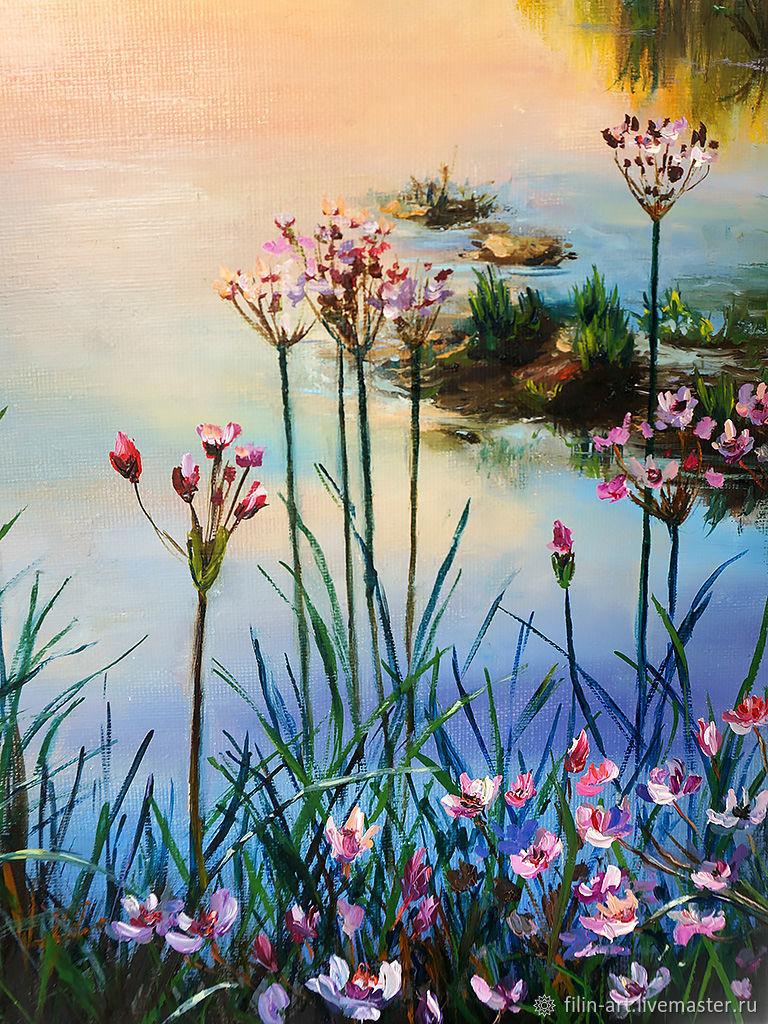 ... filin-art modern artist art oil on canvas painting contemporary art  painting oil on canvas ... - Landscape Oil Painting On Canvas -