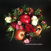 Букеты ручной работы. Ярмарка Мастеров - ручная работа Букет из живых цветов и фруктов «Настроение». Handmade.
