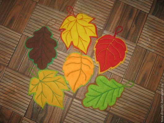 """Кухня ручной работы. Ярмарка Мастеров - ручная работа. Купить Подставки под чашечки """"Осень""""-проданы. Handmade. кленовый лист"""