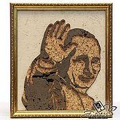 """Картины и панно handmade. Livemaster - original item Cork panel """"Putin"""". Handmade."""