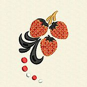Материалы для творчества ручной работы. Ярмарка Мастеров - ручная работа Дизайн машинной вышивки Клубничка. Handmade.