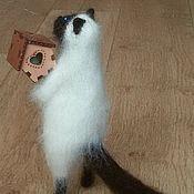 Мягкие игрушки ручной работы. Ярмарка Мастеров - ручная работа Кот со скворечником. Handmade.