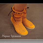 Сапоги ручной работы. Ярмарка Мастеров - ручная работа Сапоги. Вязаная обувь. Вязаные сапожки. Обувь для улицы.. Handmade.
