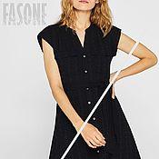 Одежда handmade. Livemaster - original item dresses: Black dress sewing organic cotton Dress. Handmade.