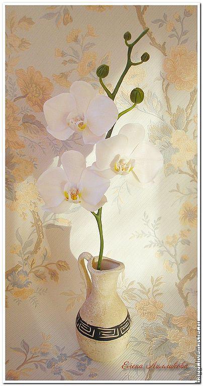 Цветы ручной работы. Ярмарка Мастеров - ручная работа. Купить Цветы из полимерной глины Орхидея Фаленопсис. Handmade. Холодный фарфор