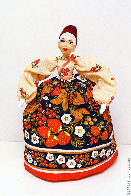 """Народные куклы ручной работы. Ярмарка Мастеров - ручная работа. Купить Кукла на чайник """"Хохлома"""". Handmade. Народная кукла"""