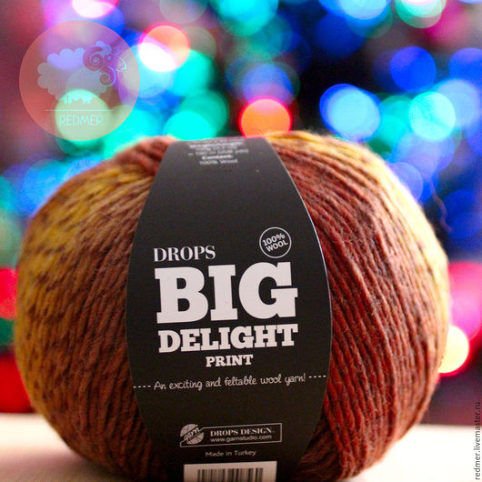 Вязание ручной работы. Ярмарка Мастеров - ручная работа. Купить Drops Big Delight. Handmade. Комбинированный, купить пряжу для вязания