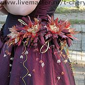 Свадебный салон ручной работы. Ярмарка Мастеров - ручная работа Цветы для наряда на выпускной вечер. Хризантемы стилизованные. Handmade.