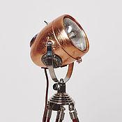 handmade. Livemaster - original item Moto floor lamp in industrial style RoadMaster Copper. Handmade.