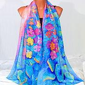 Аксессуары handmade. Livemaster - original item Silk scarf batik Mallow. Handmade.
