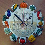Для дома и интерьера ручной работы. Ярмарка Мастеров - ручная работа Часы кухонные. Handmade.