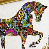 """Картины и панно ручной работы. Ярмарка Мастеров - ручная работа Картина - панно """"Лошадь"""". Handmade."""