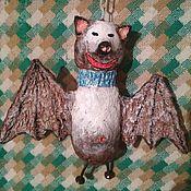"""Игрушки ручной работы. Ярмарка Мастеров - ручная работа Папье-маше """"летучая мышь"""". Handmade."""