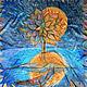Ночная сказка шелковый платок с ручной росписью Батик в подарок девушке женщине шелк ручная роспись купить Петербург Дизайнеры Ксения и Ольга Шелковые Штучки SilkCreatures shawl silk handmade batik