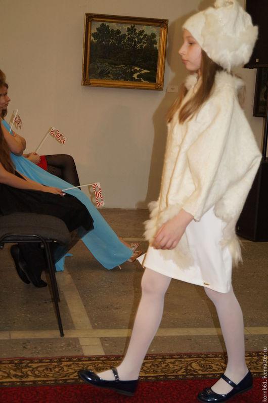 """Одежда для девочек, ручной работы. Ярмарка Мастеров - ручная работа. Купить Пончо """"Белая зима"""" детское. Handmade. Белый"""