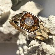 Украшения handmade. Livemaster - original item Gold ring with raw Yellow Sapphire (4,04 ct) 585 gold. Handmade.